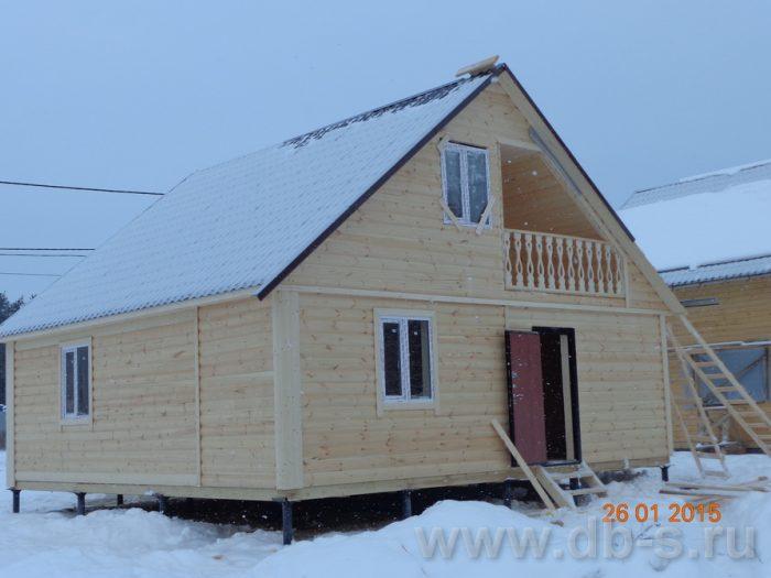 Строительство каркасного дома с мансардой 8 на 8 Калинин, Тверская область фото 1