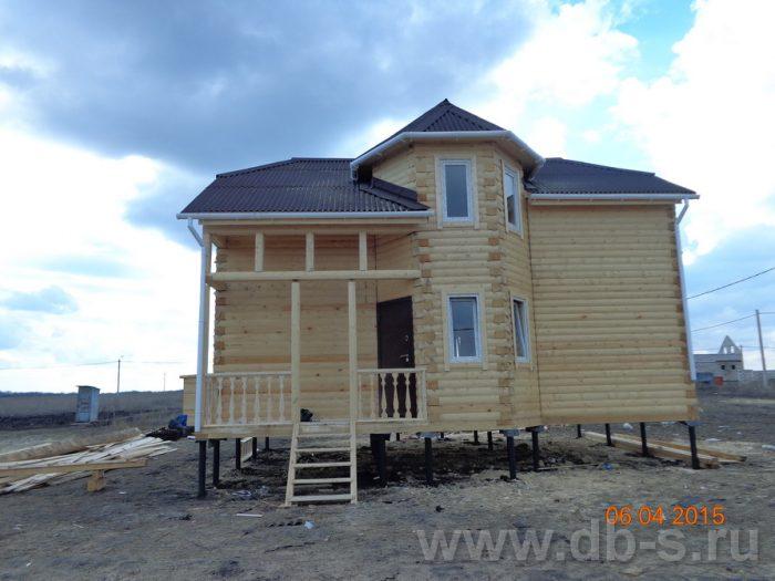 Строительство двухэтажного дома из бруса 8 на 9 Белгород, Россия фото 2