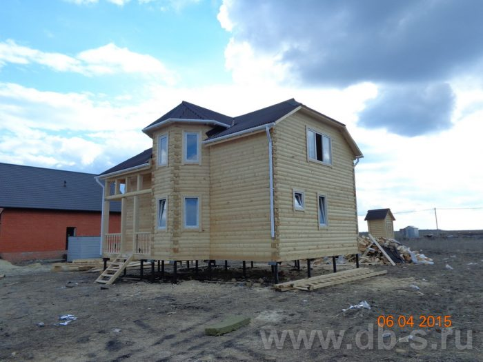 Строительство двухэтажного дома из бруса 8 на 9 Белгород, Россия фото 1