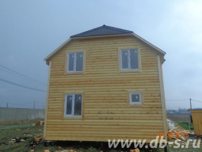 Строительство двухэтажного дома из бруса 8 на 9 Раменское, Московская область фото 3