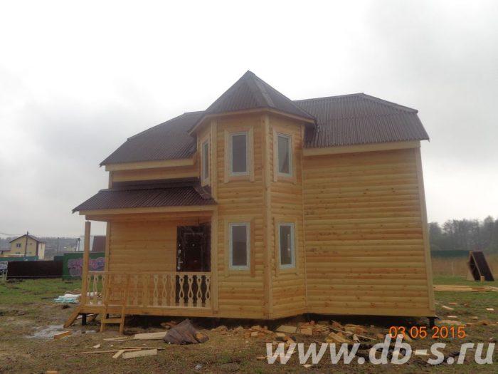 Строительство двухэтажного дома из бруса 8 на 9 Раменское, Московская область фото 1