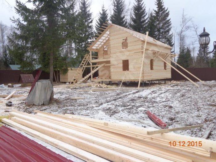 Строительство двухэтажного дома из бруса 8 на 8 Клин, Московская область фото 2