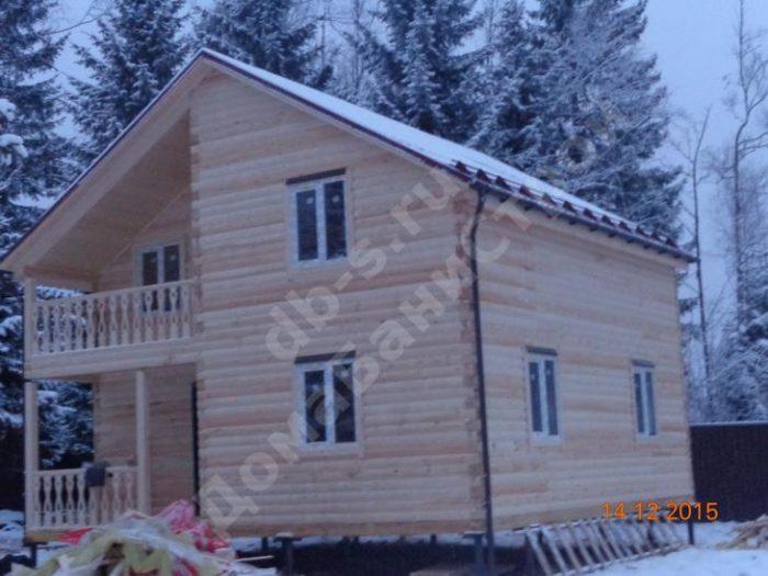 Строительство двухэтажного дома из бруса 8 на 8 Клин, Московская область фото 1