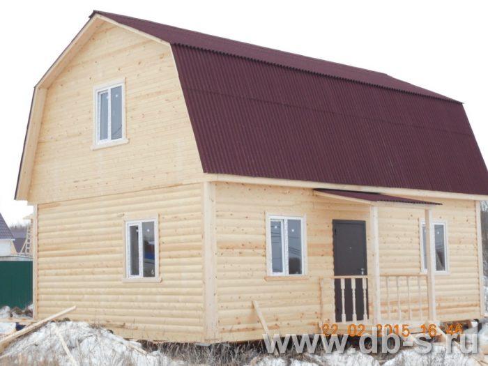 Строительство дома из бруса с мансардой 6 на 9 Павловский Посад, Московская область фото 1