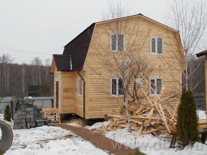 Строительство дома из бруса с мансардой 9 на 7 Ступино, Московская область фото 2