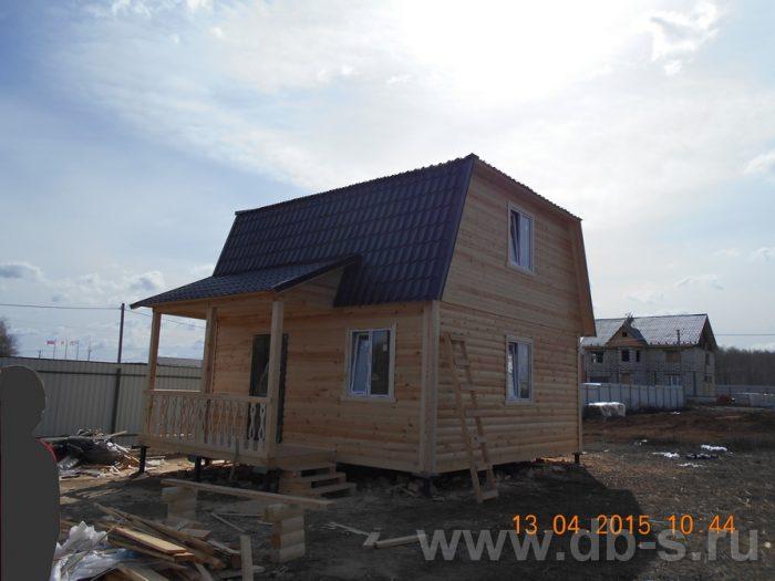 Строительство дома из бруса с мансардой 6 на 7.5 Домодедово, Московская область фото 1