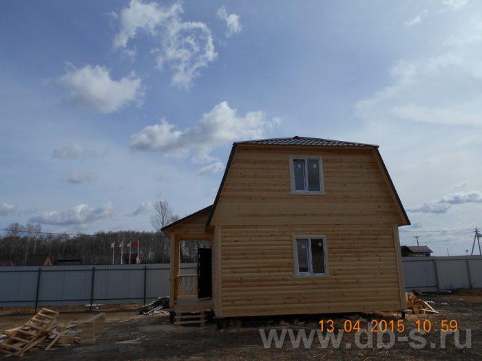 Строительство дома из бруса с мансардой 6 на 7.5 Домодедово, Московская область фото 2