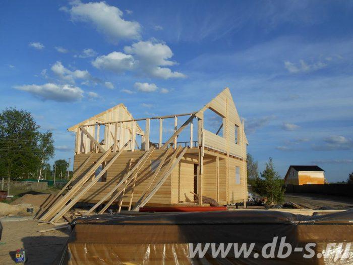 Строительство двухэтажного каркасного дома 8 на 8 Лодейное Поле, Ленинградская область фото 4