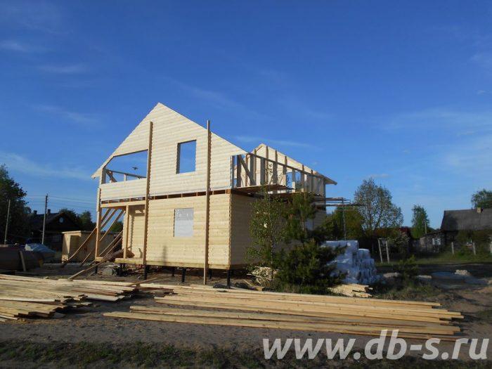 Строительство двухэтажного каркасного дома 8 на 8 Лодейное Поле, Ленинградская область фото 5