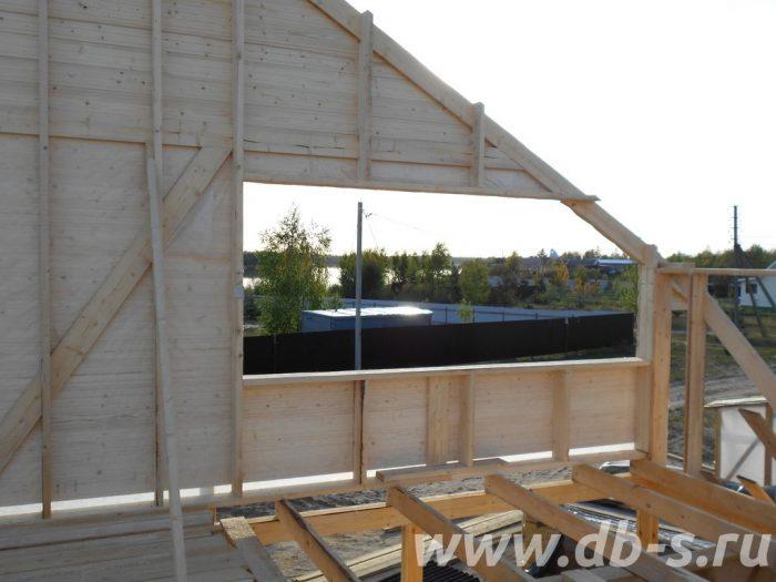 Строительство двухэтажного каркасного дома 8 на 8 Лодейное Поле, Ленинградская область фото 6