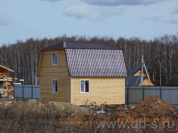 Строительство дома из бруса с мансардой 6 на 7.5 Домодедово, Московская область фото 3