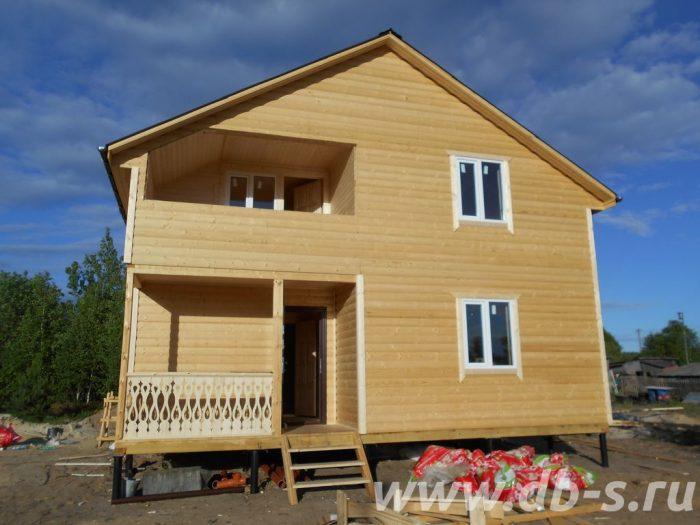 Строительство двухэтажного каркасного дома 8 на 8 Лодейное Поле, Ленинградская область фото 7