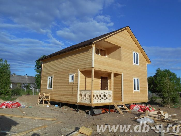 Строительство двухэтажного каркасного дома 8 на 8 Лодейное Поле, Ленинградская область фото 1