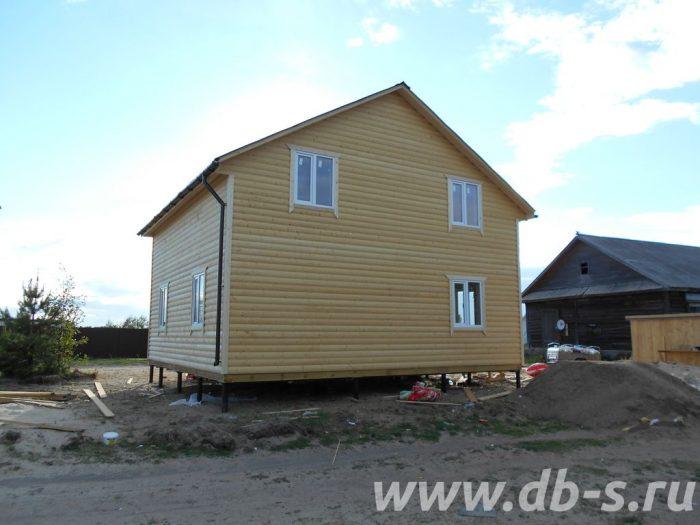 Строительство двухэтажного каркасного дома 8 на 8 Лодейное Поле, Ленинградская область фото 8