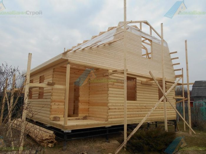 Строительство дома из бруса с мансардой 8 на 6 Боровск, Калужская область фото 4