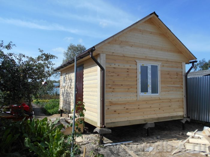Строительство одноэтажной бани из бруса 6 на 4 Конаково, Тверская область фото 3