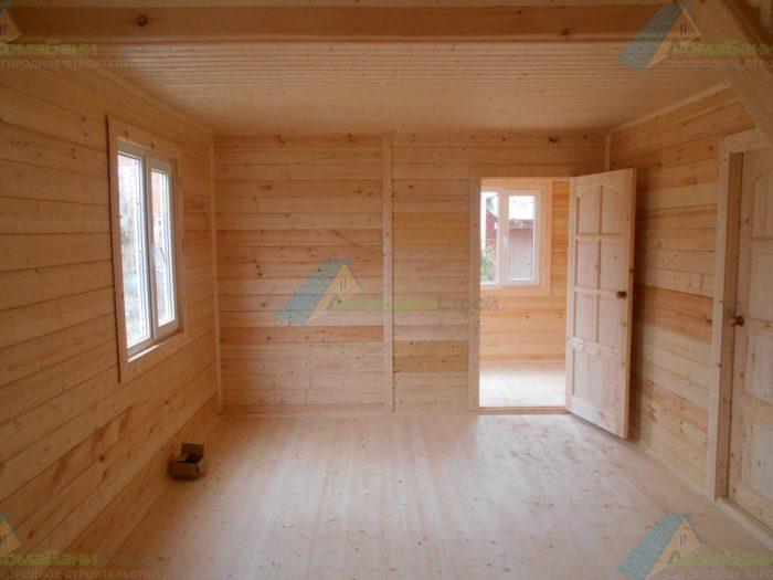 Строительство дома из бруса с мансардой 8 на 6 Боровск, Калужская область фото 2