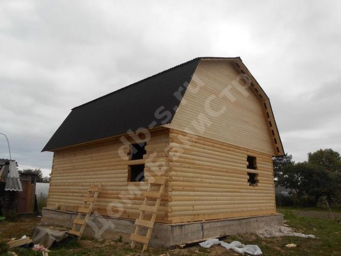 Строительство сруба дома с мансардой 7 на 7 Великие Луки, Псковская область фото 1