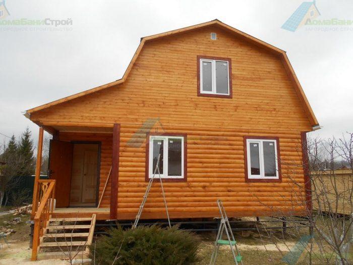 Строительство дома из бруса с мансардой 8 на 6 Боровск, Калужская область фото 1