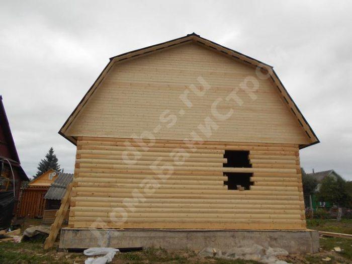 Строительство сруба дома с мансардой 7 на 7 Великие Луки, Псковская область фото 2