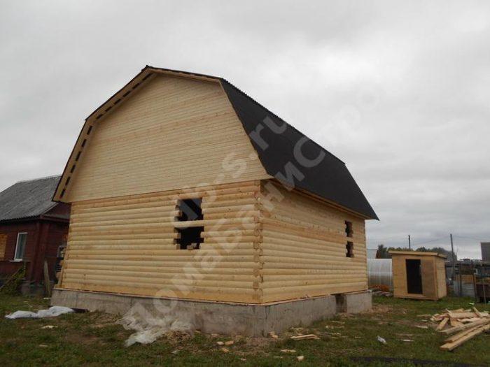 Строительство сруба дома с мансардой 7 на 7 Великие Луки, Псковская область фото 3