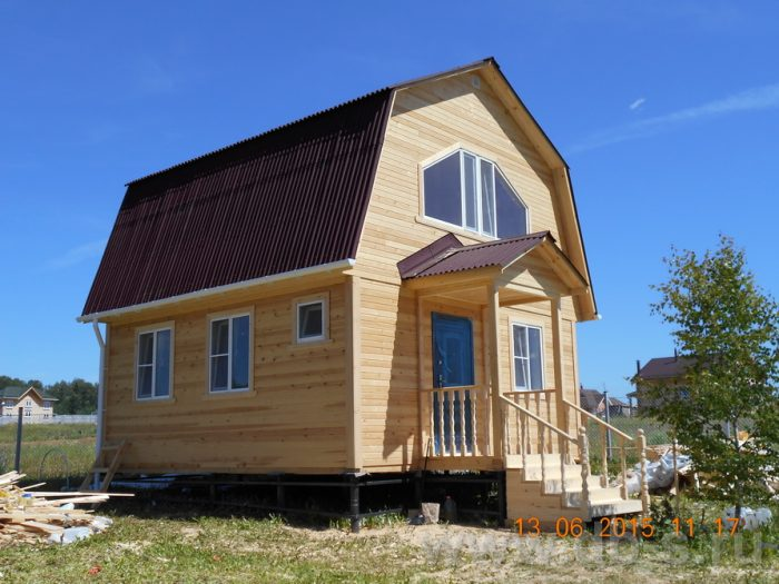 Строительство каркасного дома с мансардой 6 на 6 Фрязино, Московская область фото 1