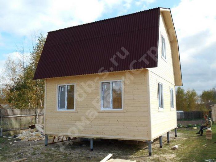 Строительство каркасного дома с мансардой 6 на 7.5  фото 1