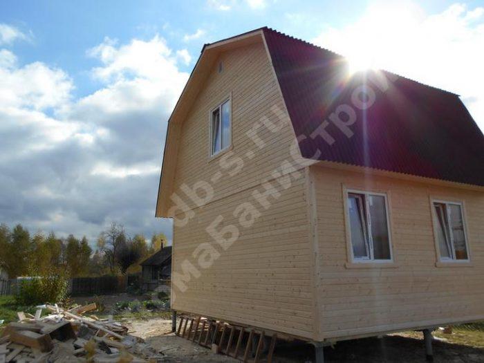 Строительство каркасного дома с мансардой 6 на 7.5  фото 3