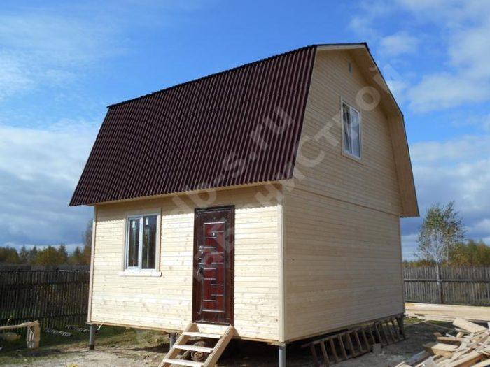 Строительство каркасного дома с мансардой 6 на 7.5  фото 2