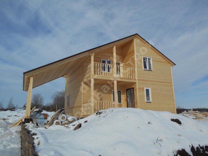 Строительство двухэтажного каркасного дома 8 на 8 Ломоносов, Ленинградская область фото 1