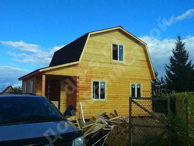 Строительство дома из бруса с мансардой 8 на 6 Клин, Московская область фото 1