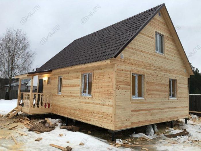 Строительство каркасного дома с мансардой 6 на 9 Кадуй, Вологодская область фото 1