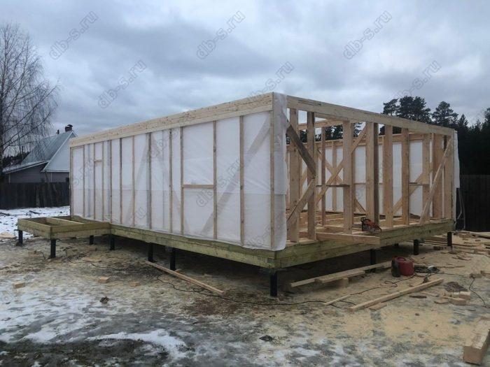 Строительство каркасного дома с мансардой 6 на 9 Кадуй, Вологодская область фото 2