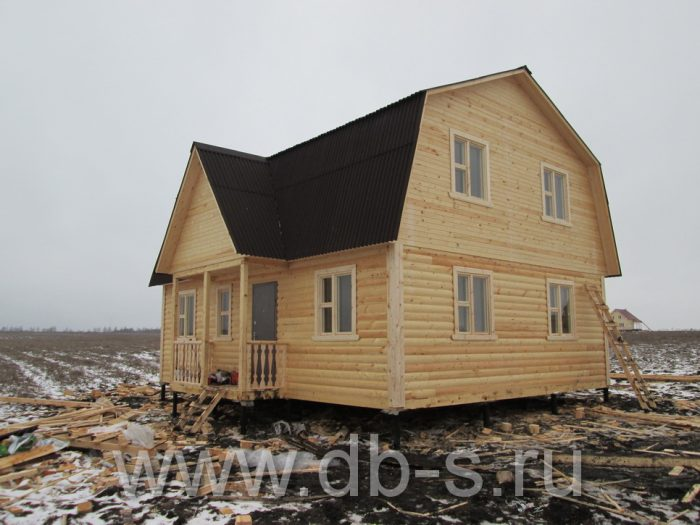 Строительство дома из бруса с мансардой 9 на 7 Новомосковск, Тульская область фото 2