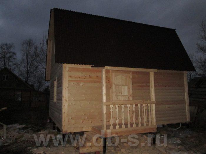 Строительство бани из бруса с мансардой 6 на 6 Гатчина, Ленинградская область фото 1