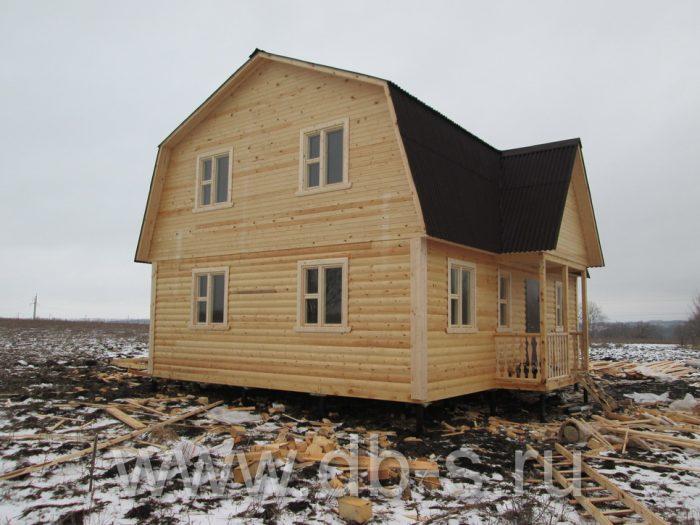 Строительство дома из бруса с мансардой 9 на 7 Новомосковск, Тульская область фото 1