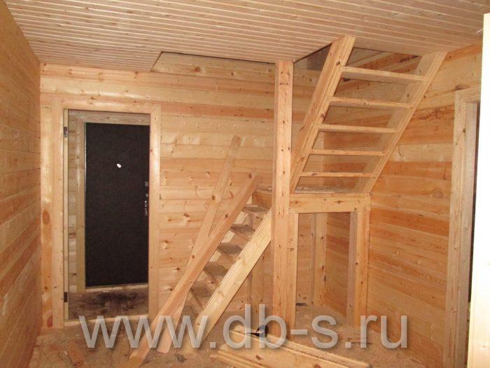 Строительство дома из бруса с мансардой 9 на 7 Новомосковск, Тульская область фото 5