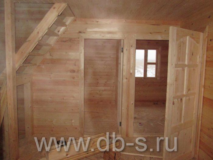 Строительство дома из бруса с мансардой 9 на 7 Новомосковск, Тульская область фото 6