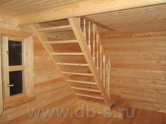Строительство бани из бруса с мансардой 6 на 6 Гатчина, Ленинградская область фото 6