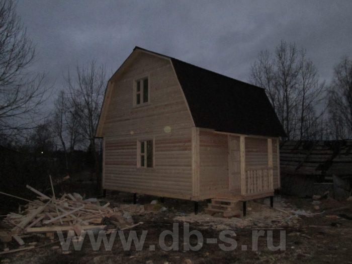 Строительство бани из бруса с мансардой 6 на 6 Гатчина, Ленинградская область фото 11