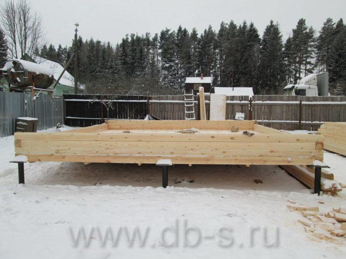 Строительство дома из бруса с мансардой 6 на 6 Кимры, Тверская область фото 2