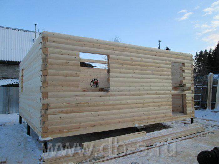 Строительство дома из бруса с мансардой 6 на 6 Кимры, Тверская область фото 6