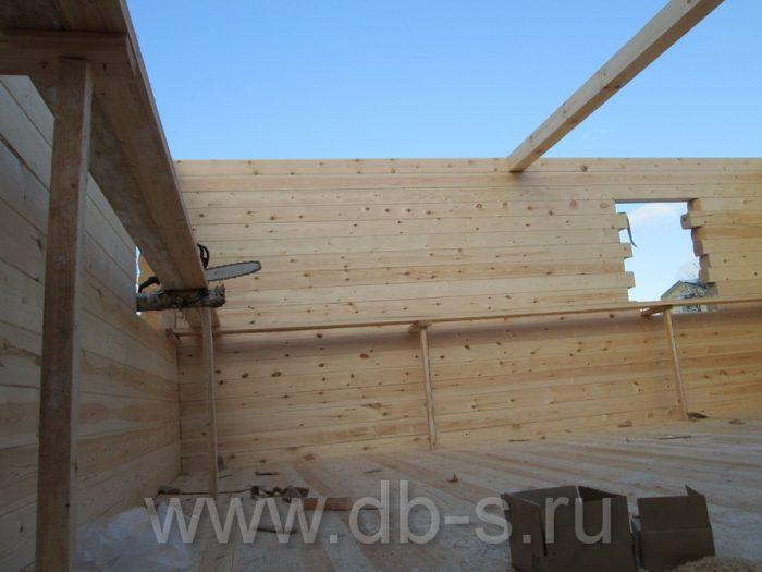 Строительство дома из бруса с мансардой 6 на 6 Кимры, Тверская область фото 7