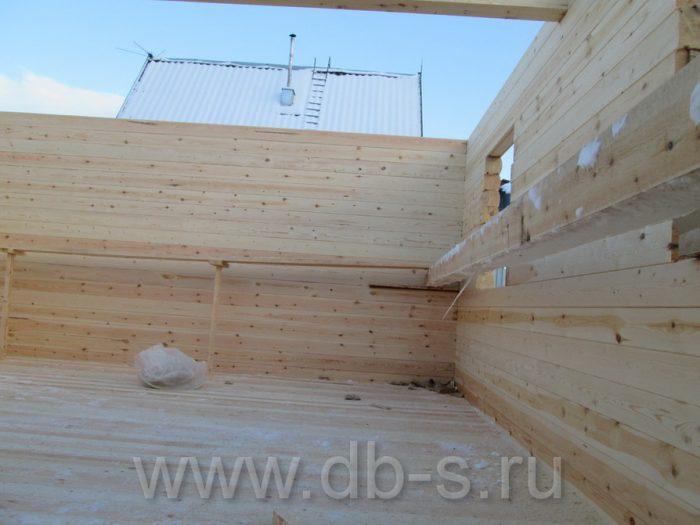Строительство дома из бруса с мансардой 6 на 6 Кимры, Тверская область фото 8
