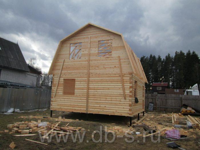 Строительство дома из бруса с мансардой 6 на 6 Кимры, Тверская область фото 9