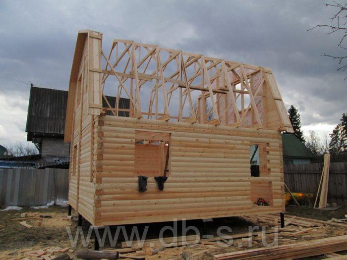 Строительство дома из бруса с мансардой 6 на 6 Кимры, Тверская область фото 10