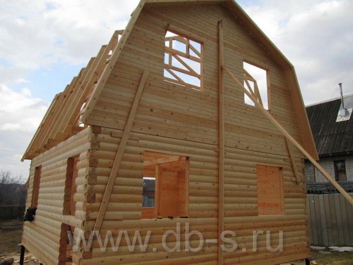 Строительство дома из бруса с мансардой 6 на 6 Кимры, Тверская область фото 11