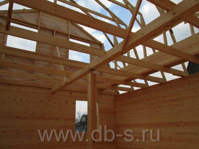 Строительство дома из бруса с мансардой 6 на 6 Кимры, Тверская область фото 12