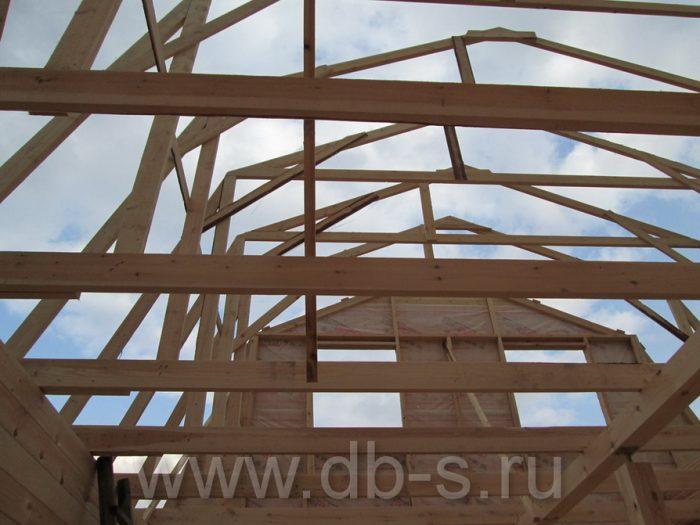Строительство дома из бруса с мансардой 6 на 6 Кимры, Тверская область фото 13
