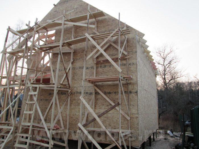 Строительство двухэтажного каркасного дома 8 на 8 Петергоф, Санкт-Петербург фото 13